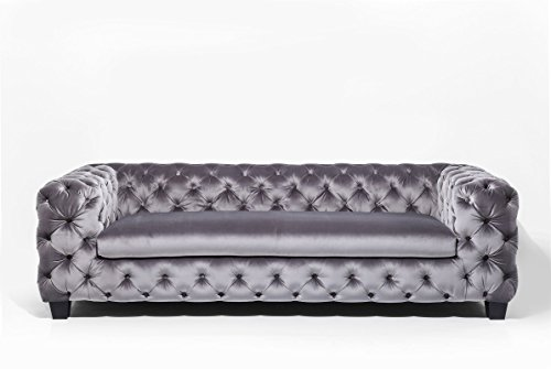 3-Sitzer Chesterfield Sofa My Desire Polsterfarbe: Silbergrau