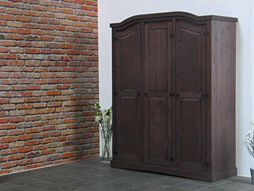 "3trg Kiefer Kleiderschrank ""New Mexiko"" Mexico Schlafzimmer-Schrank kolonial"