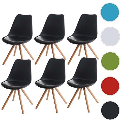 6x esszimmerstuhl malm t501 retro design schwarz for Esszimmerstuhl schwarz kunstleder