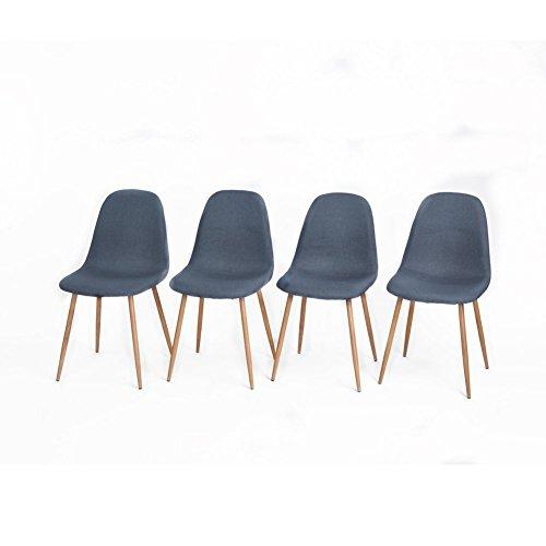 Aingoo 4stk.Küchenstuhl Metallbeine Stuhl Bistrostuhl Eiffel Stuhl Sitzgruppe Esszimmer Stuhl Stuhlgruppe