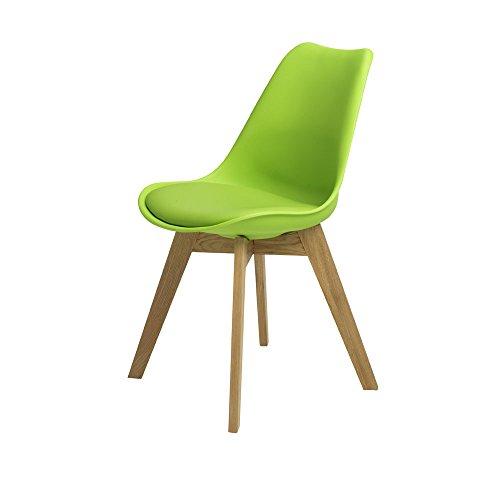 BUTIK FL20367-6 Angebot 6-er Set Moderner Design Esszimmerstuhl Consilium Valido, Eichenholz, 83 x 48 x 39 cm, grün