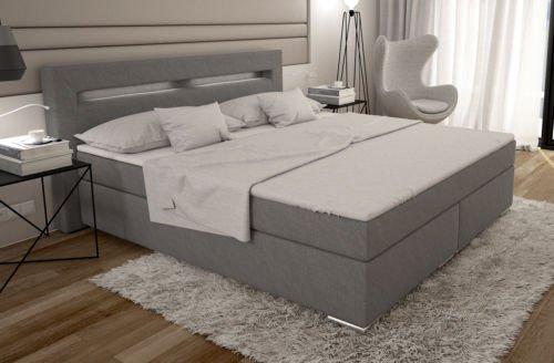 boxspringbett 180x200 cm bett doppelbett hotelbett komplettbett designerbett inkl led retro stuhl. Black Bedroom Furniture Sets. Home Design Ideas