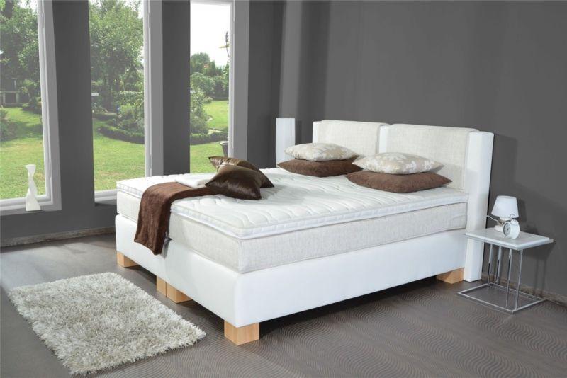 Boxspringbett DORA-ST, auch mit Bettkasten oder elektrisch erhältlich, 200x200