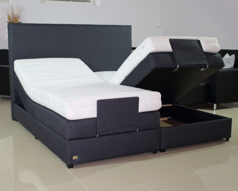 boxspringbett h3 h4 eingebauter bettkasten mit. Black Bedroom Furniture Sets. Home Design Ideas