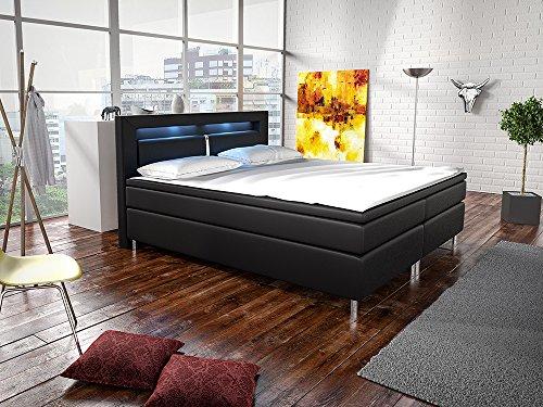 Boxspringbett New Jersey 180 x 200 cm - schwarz