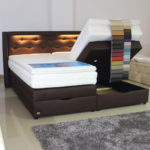Boxspringbett mit Bettkasten LED 100x200 120x200 140x200 160x200 180x200 200x200