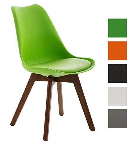 clp design retro stuhl borneo mit holzgestell walnuss. Black Bedroom Furniture Sets. Home Design Ideas