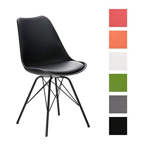 Clp design retro stuhl pegleg mit metallgestell schwarz for Design stuhl kunststoff