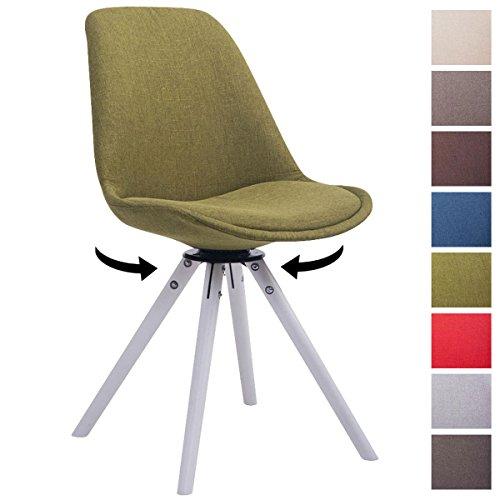 Clp design retro stuhl troyes rund mit stoffbezug und for Design stuhl bequem