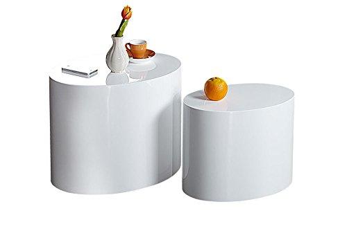 Cravog couchtisch design beistelltisch 2er set hochglanz for Design couchtisch organic ii hochglanz weiss tisch beistelltisch retro lounge