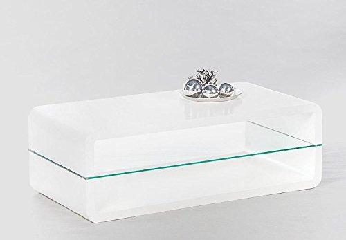Cravog couchtisch hochglanz wei 120x40x60 cm for Couchtisch mit weisser glasplatte