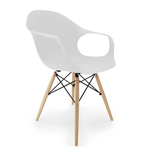 Cablematic - Stuhl Eiffelturm inspiriert Sessel weiß