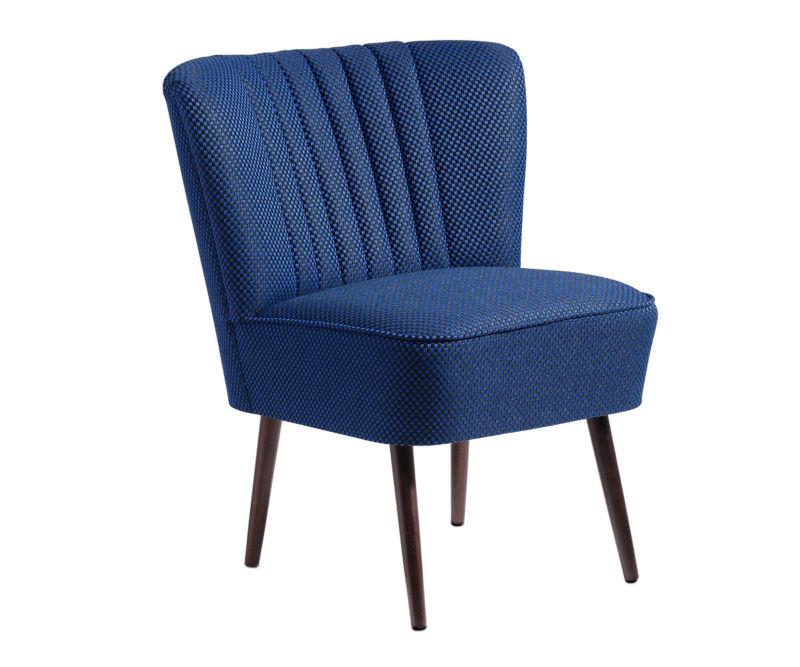 cocktailsessel 50er jahre retrosessel beine hell o dunkel karo blau schwarz neu retro stuhl. Black Bedroom Furniture Sets. Home Design Ideas