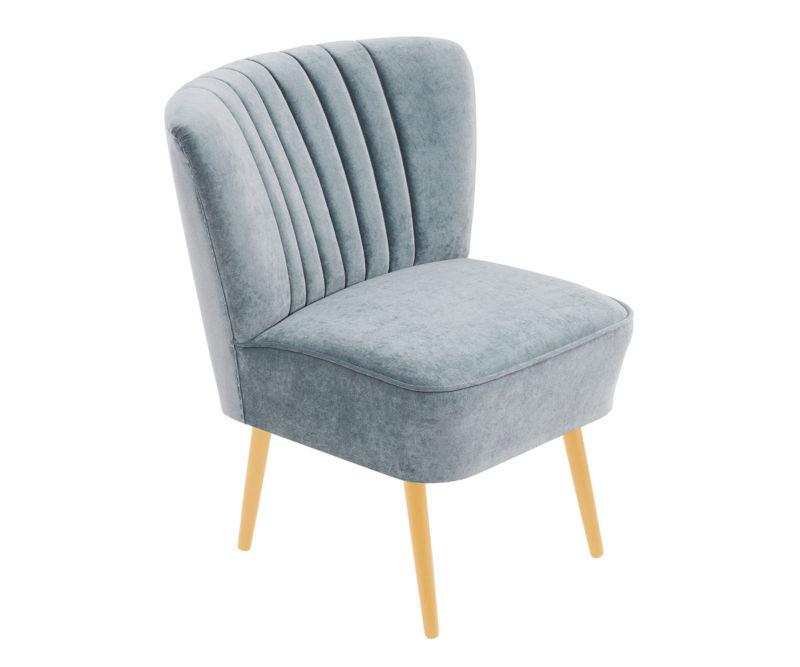 cocktailsessel 50er jahre retrosessel beine hell samtvelour eisblau neu retro stuhl. Black Bedroom Furniture Sets. Home Design Ideas