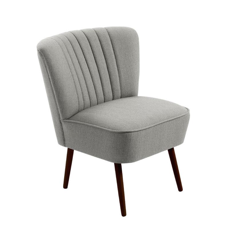 cocktailsessel 50er jahre retrosessel beine hell uni grau neu retro stuhl. Black Bedroom Furniture Sets. Home Design Ideas