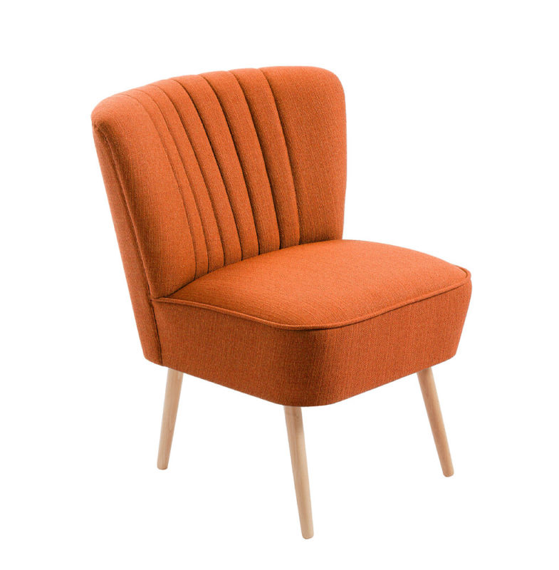 cocktailsessel 50er jahre retrosessel beine hell uni orange neu retro stuhl. Black Bedroom Furniture Sets. Home Design Ideas