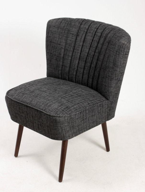 cocktailsessel 50er retrosessel uni grau meliert beine dunkel auslaufstoff neu retro stuhl. Black Bedroom Furniture Sets. Home Design Ideas