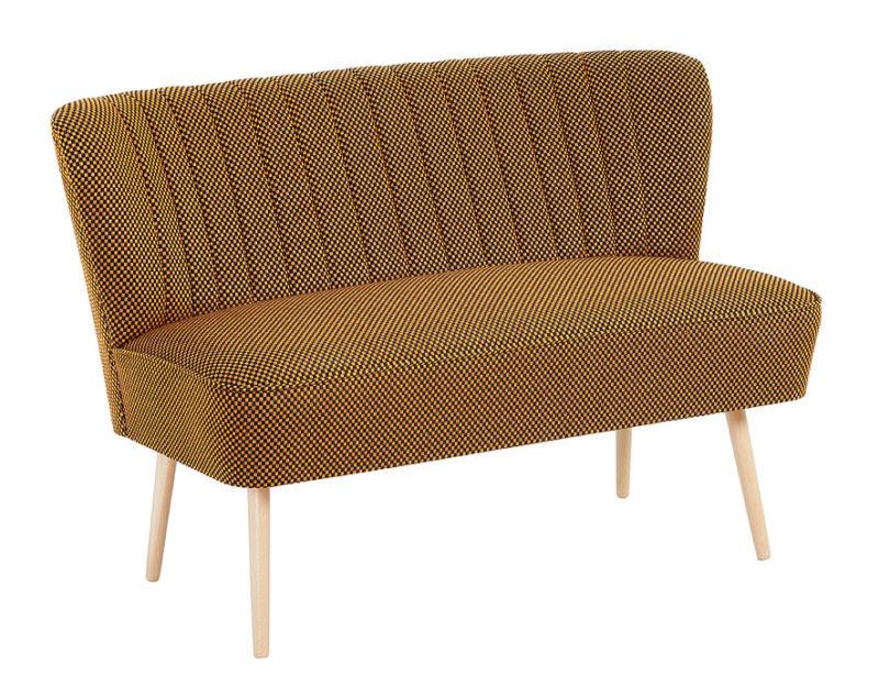 cocktailsofa 50er jahre retrosofa beine hell o dunkel karo curry schwarz neu retro stuhl. Black Bedroom Furniture Sets. Home Design Ideas