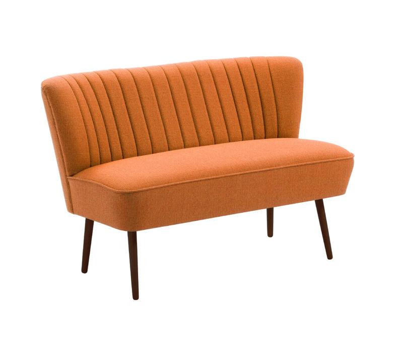 cocktailsofa 50er jahre retrosofa beine hell o dunkel uni orange neu retro stuhl. Black Bedroom Furniture Sets. Home Design Ideas