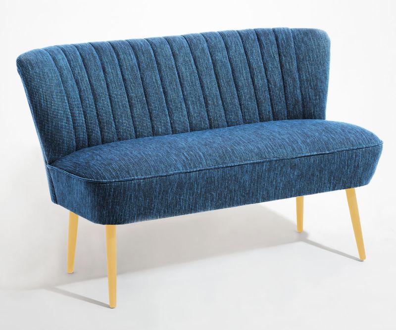 cocktailsofa 50er jahre retrosofa beine hell o dunkel blau meliert neu retro stuhl. Black Bedroom Furniture Sets. Home Design Ideas