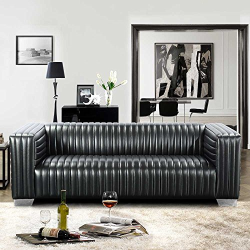 Couch in Schwarz Retro Style Pharao24