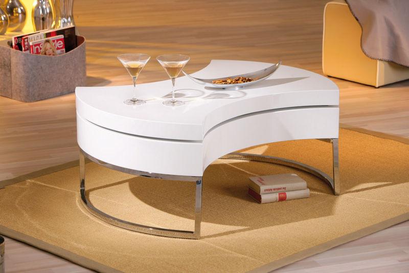 Couchtisch Wei Hochglanz Wohnzimmertisch Wohnzimmer Tisch