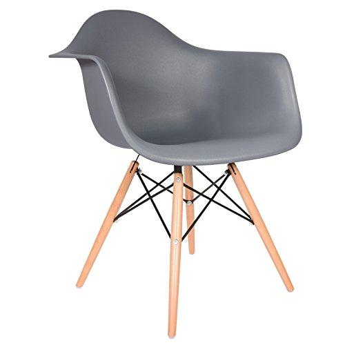 Daw stuhl dunkelgrau natur retro stuhl for Daw stuhl gepolstert