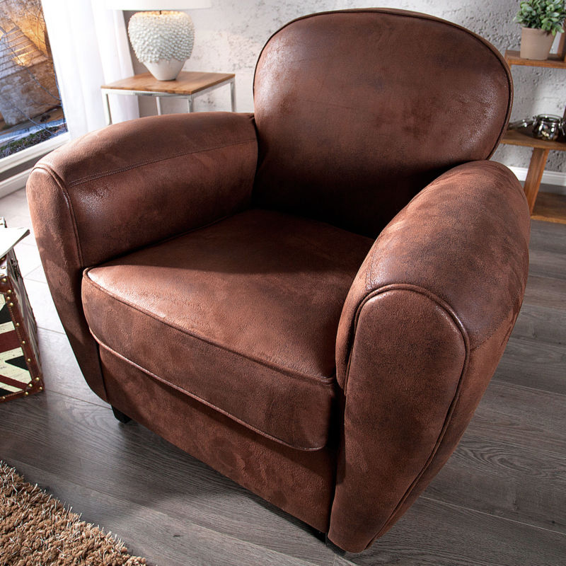 design retro sessel whiskey club braun polstersessel wohnzimmer sofa clubsessel 0 retro stuhl. Black Bedroom Furniture Sets. Home Design Ideas