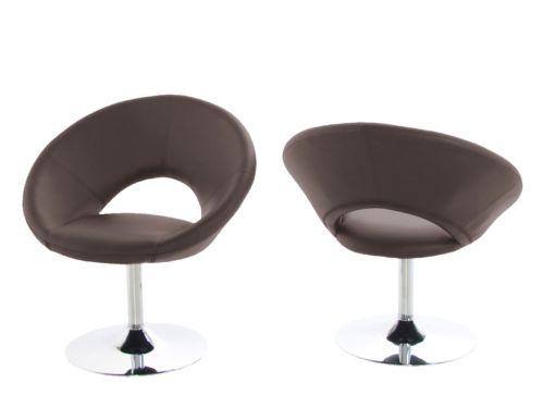 Design Vintage Plump 50886 Relaxsessel Retro Drehstuhl Sessel Stuhl braun