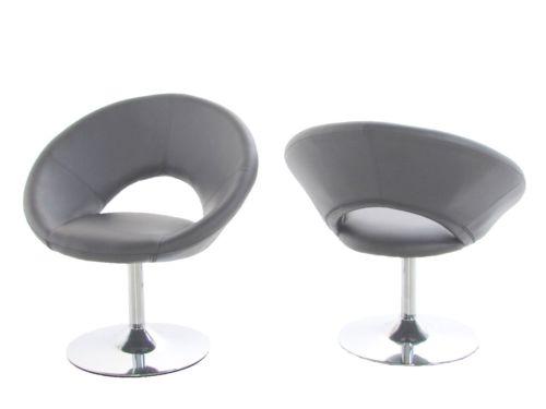 Design vintage plump 50886 relaxsessel retro drehstuhl for Sessel stuhl grau
