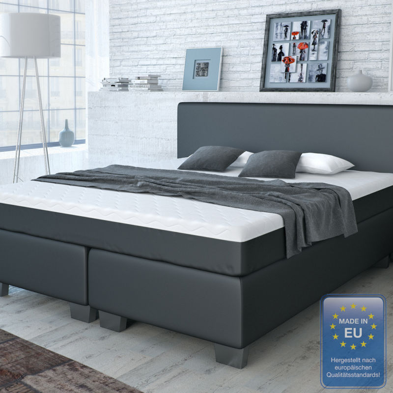 designer boxspringbett bett hotelbett doppelbett kunstleder schwarz 180x200 cm retro stuhl. Black Bedroom Furniture Sets. Home Design Ideas