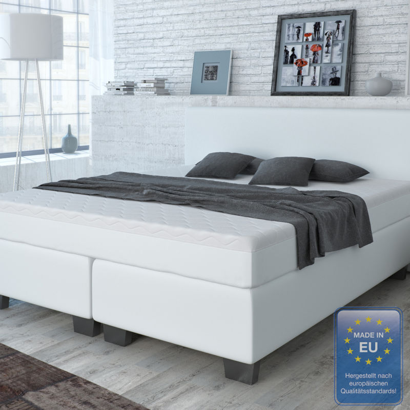 designer boxspringbett bett hotelbett doppelbett kunstleder weiss 180 200 cm 0 retro stuhl. Black Bedroom Furniture Sets. Home Design Ideas