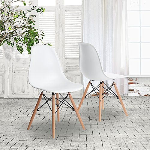 HNNHOME Esstischstühle aus Kunststoff, inspiriert vom Eames-DSW-Design, modern