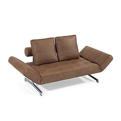 Innovation istyle schlafsofa ghia brown 0 retro stuhl for Schlafsofa ghia