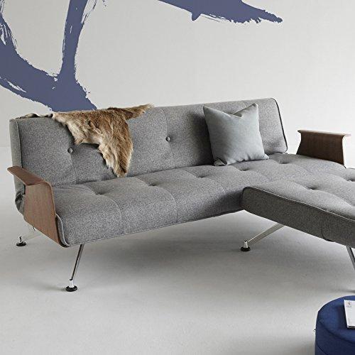 innovation schlafsofa mit chrombeinen und armlehnen. Black Bedroom Furniture Sets. Home Design Ideas