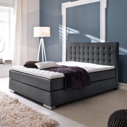 JOE Boxspringbett Hotelbett Amerikanisches Bett Design - 160 x 200 cm Schwarz