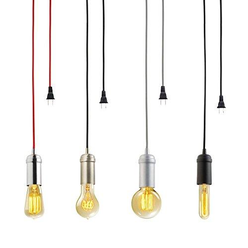 KINGSO Edison Modern Hängelampe Vintage Metall Pendelleuchte Kronleuchte DIY Lampe mit E27 Lampenfassung,Stecker,Schalter und Zertifikat