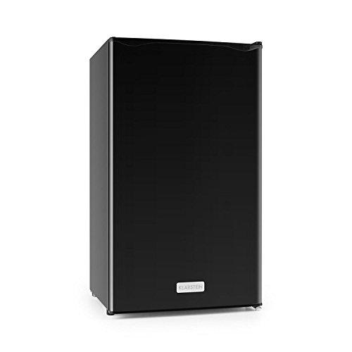 Klarstein Springfield Kühlschrank, Kapazität 112l, 60W (Energieeffizienzklasse A+, 3Etagen, Gemüsefach und Türfächer, Schwarz