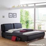 MONZA Polsterbett Kunstlederbett Bett Designerbett Design - 160 x 200 cm Schwarz