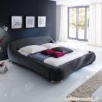 PALOMA Polsterbett Barock Stoffbett Stoffbezug Design Bett - 160x200 Anthrazit