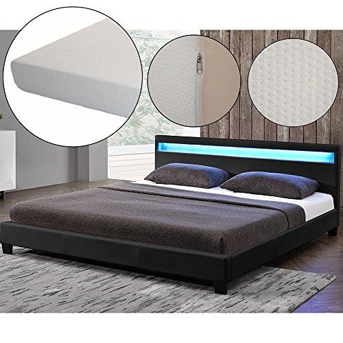 polsterbett paris 160 x 200 cm schwarz mit. Black Bedroom Furniture Sets. Home Design Ideas
