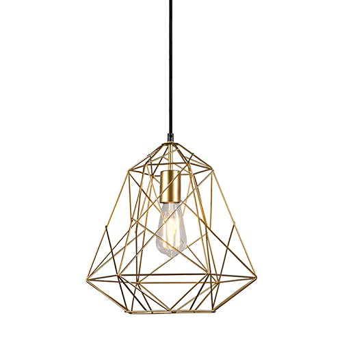 qazqa modern pendelleuchte pendellampe h ngelampe lampe leuchte retro framework gold. Black Bedroom Furniture Sets. Home Design Ideas