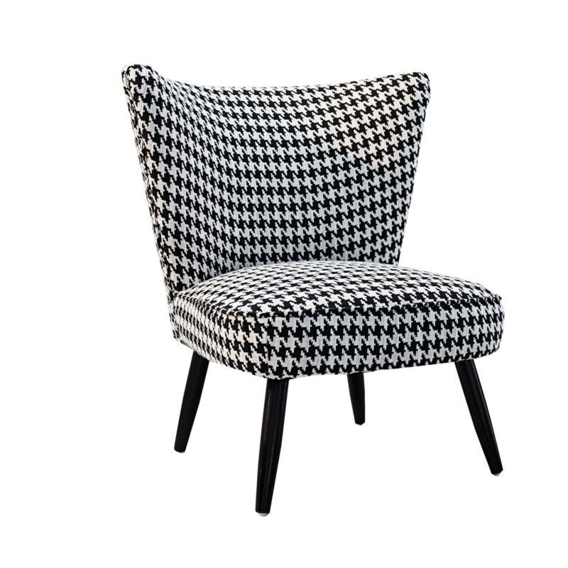 retro sessel audrey schwarz wei hahnentritt. Black Bedroom Furniture Sets. Home Design Ideas