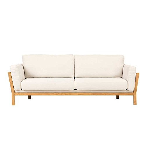 Retro Couch in Creme Eiche modern Pharao24