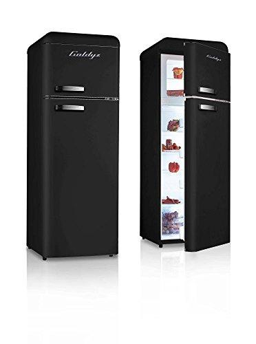 Retro Kühlschrank Schwarz A+ Kühl-Gefrierkombi Kühlschrank