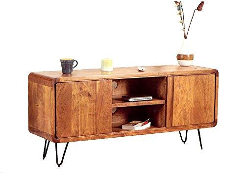 Retro Sideboard TV Board Authentic Easy Living Massivholz 140 Haarnadelfüße