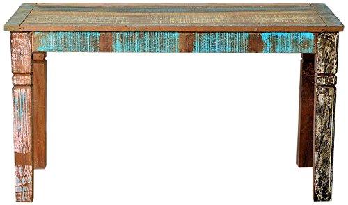 SIT-Möbel Riverboat 9114-98 Holztisch im Factory-Design, Gebrauchsspuren, recyceltes Altholz, bunt lackiert, 140 x 70 x 76 cm