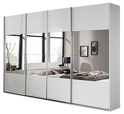 schwebet renschrank lagos wei hochglanz 315 cm breit. Black Bedroom Furniture Sets. Home Design Ideas