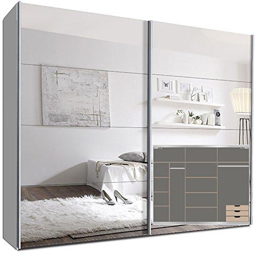 schwebet renschrank switchbox 270 cm wei mit spiegelt ren inkl zubeh r retro stuhl. Black Bedroom Furniture Sets. Home Design Ideas