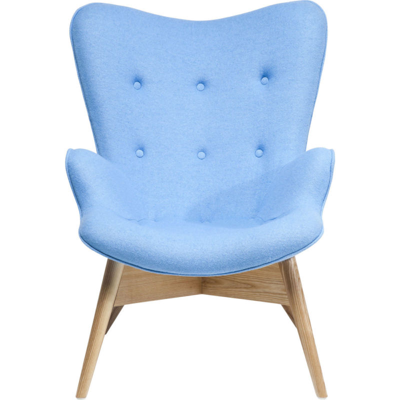 Sessel Ohrensessel Clubsessel Cocktailsessel Retro Angels Wings blau NEU KARE